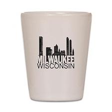 Milwaukee Skyline Shot Glass