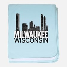 Milwaukee Skyline baby blanket