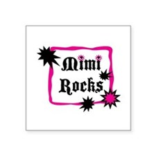 "Mimi Rocks Square Sticker 3"" x 3"""