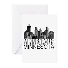Minneapolis Skyline Greeting Cards (Pk of 10)
