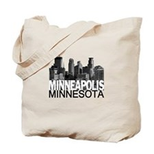 Minneapolis Skyline Tote Bag