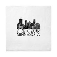 Minneapolis Skyline Queen Duvet