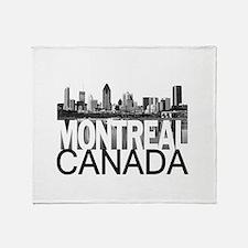 Montreal Skyline Throw Blanket