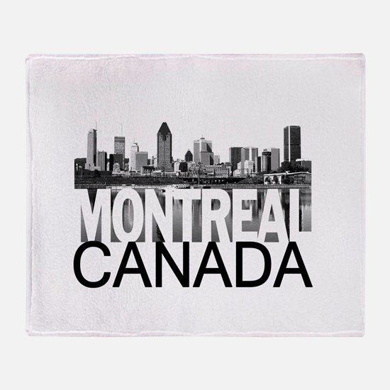Montreal Skyline Throw Blanket