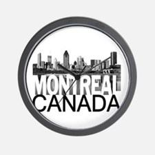 Montreal Skyline Wall Clock
