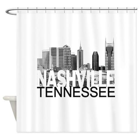 Nashville Skyline Shower Curtain