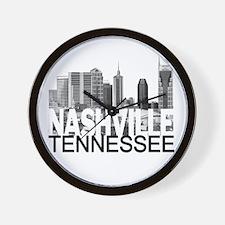 Nashville Skyline Wall Clock