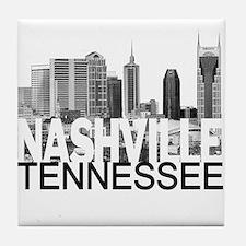 Nashville Skyline Tile Coaster