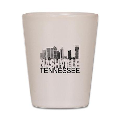 Nashville Skyline Shot Glass