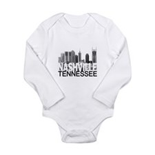Nashville Skyline Long Sleeve Infant Bodysuit