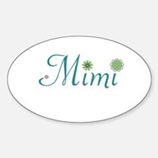Mimi Green Flowers Decal
