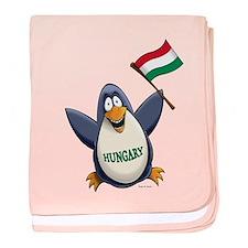 Hungary Penguin baby blanket