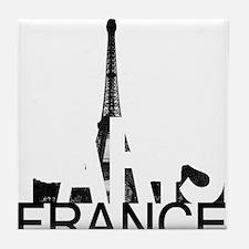 Paris Skyline Tile Coaster