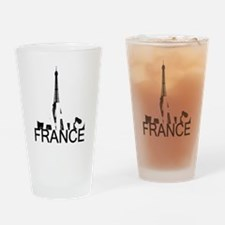 Paris Skyline Drinking Glass