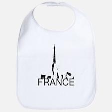 Paris Skyline Bib