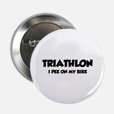 "Triathlon I Pee On My Bike 2.25"" Button (100 pack)"