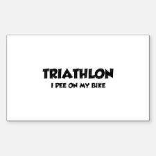 Triathlon I Pee On My Bike Decal