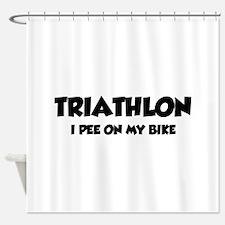 Triathlon I Pee On My Bike Shower Curtain