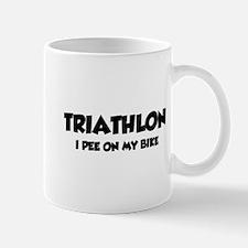 Triathlon I Pee On My Bike Mug