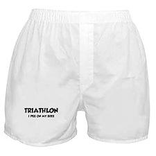 Triathlon I Pee On My Bike Boxer Shorts