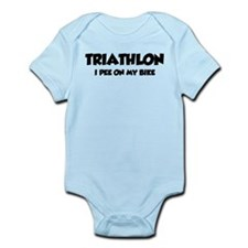 Triathlon I Pee On My Bike Infant Bodysuit
