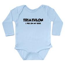 Triathlon I Pee On My Bike Long Sleeve Infant Body