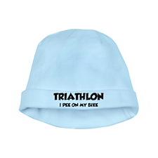 Triathlon I Pee On My Bike baby hat