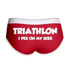 Triathlon I Pee On My Bike Women's Boy Brief