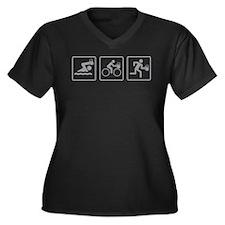 BeerAthlon Women's Plus Size V-Neck Dark T-Shirt