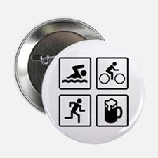 "Swim Bike Run Drink 2.25"" Button (100 pack)"
