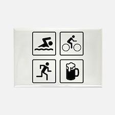 Swim Bike Run Drink Rectangle Magnet