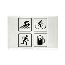 Swim Bike Run Drink Rectangle Magnet (100 pack)