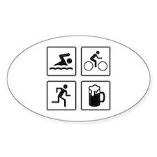 Swim Bike Run Drink Decal