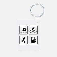 Swim Bike Run Drink Keychains