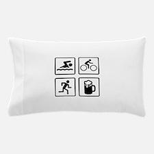Swim Bike Run Drink Pillow Case
