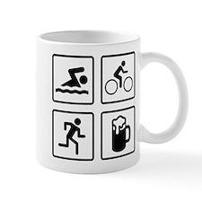 Swim Bike Run Drink Small Mug