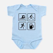 Swim Bike Run Drink Infant Bodysuit