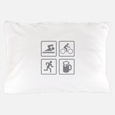 Swim Bike Run Drink Pillow Case