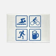 Swim Bike Run Drink Rectangle Magnet (10 pack)