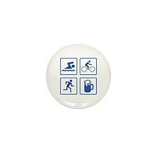 Swim Bike Run Drink Mini Button (100 pack)
