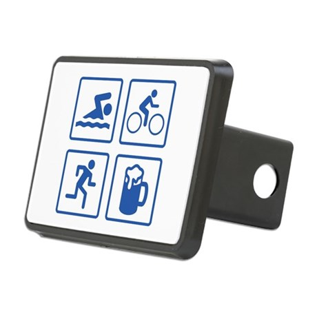 Swim Bike Run Drink Rectangular Hitch Cover