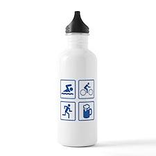 Swim Bike Run Drink Water Bottle