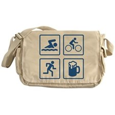 Swim Bike Run Drink Messenger Bag