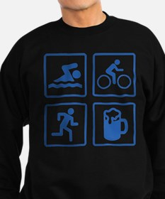 Swim Bike Run Drink Sweatshirt