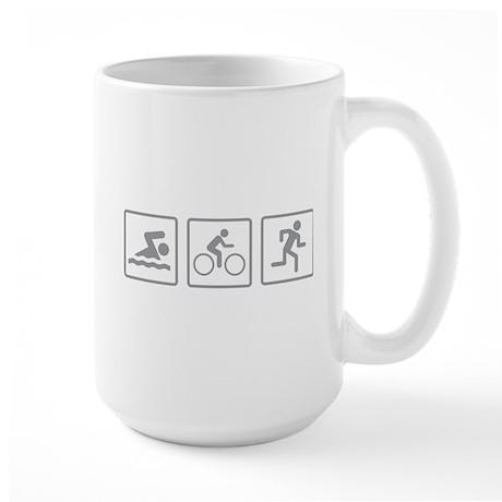 Triathlon Swim Bike Run Large Mug