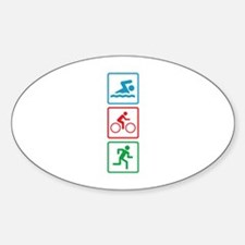 Triathlon Swim Bike Run Decal