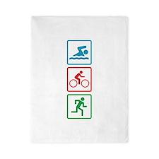 Triathlon Swim Bike Run Twin Duvet