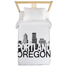Portland Skyline Twin Duvet