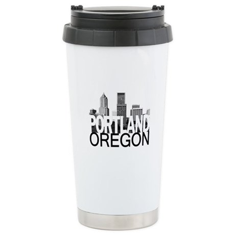 Portland Skyline Stainless Steel Travel Mug