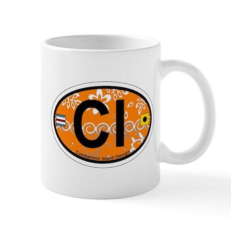 Cumberland Island GA - Oval Design. Mug